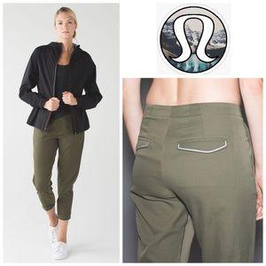 Lululemon &go City Trek Trouser in Fatigue Green